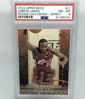 2003 Upper Deck Rookie Exclusives Jersey Patch LeBron James PSA 8