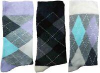 3 Pairs of Ladies JA3 Patterned Cotton Socks by Jennifer Anderton , UK Size 4-8