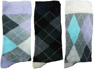 3 Pairs of Ladies JA3 Patterned Cotton Socks by Jennifer Anderton , UK Size 4-8