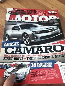 MOTOR Car magazine MAY 2009 CAMARO GT-R NISSAN SPEC V RS LP560 242 XR6 RX7 GTI