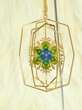 Vintage Hummelwerk Gold Plated Christmas Tree Ornament Snowflake Stained-glass
