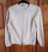 United Colors of Benetton Pure Wool Cream Button Down Cardigan L
