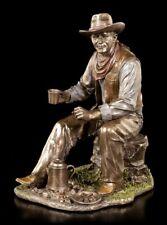 Cowboy Figurine - Café paillettes sur Fil de fer FEU CAMP - VERONESE STATUETTE