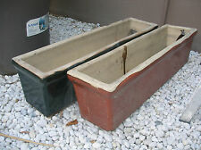 2 x Rectangular glazed terracotta garden pots 81cm x 20cm x 20cm