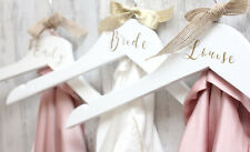 Personalised Wedding Day Dress Bridal Bridesmaid Keepsake Coat Hangers