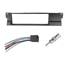 Dash Installation Trim Kit for BMW E46 One Din Radio Fascia With Wiring Harness
