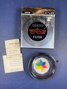 Vintage Prinz Mirage Prism camera filter 52mm, Original Box w Case, Instructions