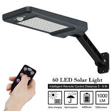 60 LEDs Solar Dimmable Wall Street Light PIR Motion Sensor Outdoor Garden Lamp