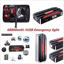 Potable Car Jump Starter Battery Charger Portable 4 USB Power Bank 68800mAh