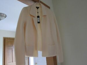 Talbots Pure Merino Wool - Ivory color sweater size S