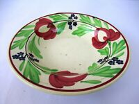 Antique Spongeware Pottery Rice Plate Soup Bowl Spatterware English Pottery*F103
