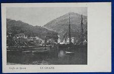 """GOLFO DI SPEZIA Le Grazie imbarcazioni  postcard no viaggiata """"900  f/p #22125"""