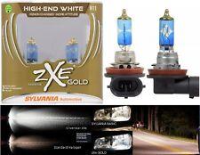 Sylvania Silverstar ZXE Gold H11 55W Two Bulbs Head Light High Beam Upgrade Lamp