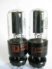 2 matched 1964-65 RCA 5Y3GT tubes - Hickok TV-7D tests @ 60/55, 60/55, min:40/40