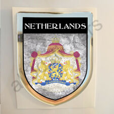 Netherlands Sticker Coat of Arms Resin Domed Stickers Flag 3D Adhesive Car
