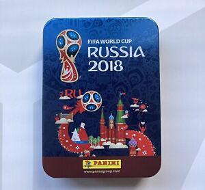 Panini Collectors Sticker Storage Box Russia 2018 World Cup Sticker Tin