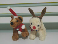 HILLS DOG FOOD SCIENCE DIET PROMOTIONAL CHRISTMAS PLUSH TOYS ANTLERS AND HAT!