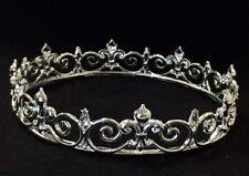 Silver Crown Prom King Queen Fleur De Lis Mardis Gras Costume Prop DecorationC12