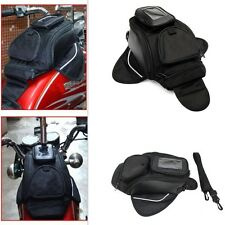 Universal Magnetic Motorcycle Oil Fuel Tank Waterproof Tank Bag Travel Black