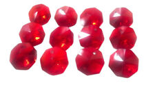 100 Red 14mm Octagon Chandelier Crystals Faceted Glass Beads