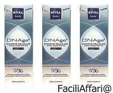 3 X crema Nivea body DNAge Rinnovo Cellulare corpo anti-età offerta lotto stock