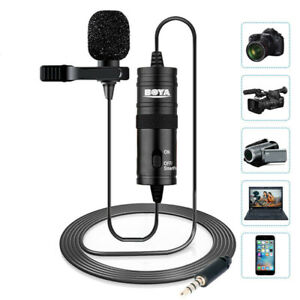 BOYA BY-M1 3.5mm Lavalier for Smartphone and Camera Microphone with Mic Port