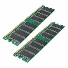 2x(2x1gb Pc3200 Non-ecc DDR 400mhz High Density Memory 184-pin DIMM RAM J9k5 DP
