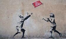 Banksy -No Ball Games Ed. 300 uds Firma impresa. Num. a lapiz. Certif. Edicion