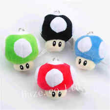 Super Mario Bros Mushroom Soft Plush Toy Bag Pendant Keychain For Girls A
