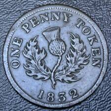 OLD CANADIAN COIN 1832 PROVINCE OF NOVA SCOTIA - ONE PENNY TOKEN  BR 870  NS-4A2