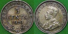 1929 Canada Silver Newfoundland Nickel Graded as Fine