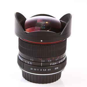 Super-Wide Fisheye Lens 8mm f/3.5 for Canon 5D Mark III II 70D 6D 60D 700D 600D
