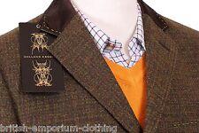 HOLLAND ESQUIRE mano personalizzati Tweed Cappotto Bnwt uk36