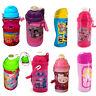 Dinsey & Kids TV Character School Lunch Drink Pop Up Canteen Water Bottle New