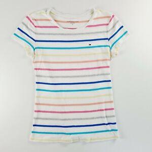 TOMMY HILFIGER Womens Striped Summer Shirt Top Size Medium