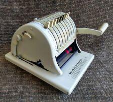 Vintage Paymaster Series 8000 black & red ribbon check writer with key & ribbon