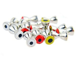Brass dumbbells with eyes 4mm / various colors / 10pcs. per pack