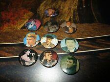 Johnny Hallyday-Lot  pin s épingle d époque-Johnny a l armée,portraits années 60