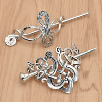 Celtic Knots Clips Alloy Hairpin Charm Hair Accessories Women Girl Hair Stick