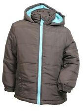 NEW Boys Kids Puffa Jacket Padded Coat Back to School Brown Age 3 4 5 6 7 8 9 10