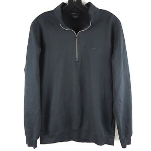 Nike Women's Tiger Woods Collection 1/2 Zip Pullover Shirt Cotton Blend Black L
