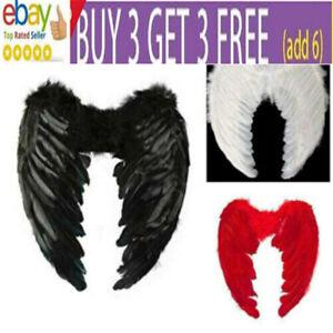 Feather Angel Wings Christmas Halloween Fancy Dress Costume Hen Night Party JU