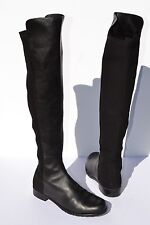 Stuart Weitzman 5050 Over The Knee Black Leather Boots Size 7 M