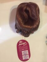 New Monique Doll Wig Jessica 14-15 Lt Auburn, original box=====ak