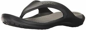 Crocs Men's Shoes Athens Slip On Open Toe Flip Flops, Black/Smoke, Size 9.0 UqCp