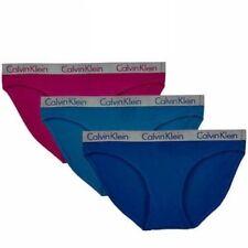Calvin Klein  Ladies' Bikini Cotton 3-pack Underwear  BLUE PINK SMALL NEW