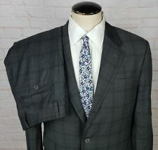 Paul Smith Men's Suit The Byard Slim Fit Gray Check 100% Wool Italy Size 40R 34W