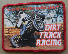 """Rare Vintage Dirt Track Racing Sprint Car Sew On Patch 4"""" Ride On The Wild Side"""