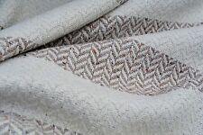 D138 luxueux naturel ecru & noisette les tons marron lambswool&cotton chunky tissage