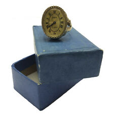 Gold plated Openwork USSR Womens Watch ring finger Signet CHAYKA Chaika AU box